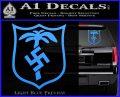 German WW2 Afrika Korps Decal Sticker Light Blue Vinyl 120x97