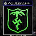German WW2 Afrika Korps Decal Sticker Lime Green Vinyl 120x120