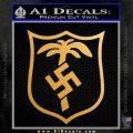German WW2 Afrika Korps Decal Sticker Metallic Gold Vinyl Vinyl 120x120