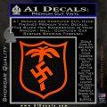 German WW2 Afrika Korps Decal Sticker Orange Vinyl Emblem 120x120