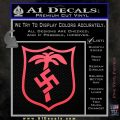 German WW2 Afrika Korps Decal Sticker Pink Vinyl Emblem 120x120