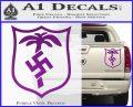 German WW2 Afrika Korps Decal Sticker Purple Vinyl 120x97