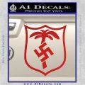 German WW2 Afrika Korps Decal Sticker Red Vinyl 120x120