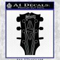 Gibson Decal Sticker Guitar Head Black Logo Emblem 120x120