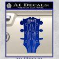 Gibson Decal Sticker Guitar Head Blue Vinyl 120x120