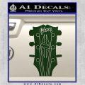 Gibson Decal Sticker Guitar Head Dark Green Vinyl 120x120