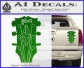 Gibson Decal Sticker Guitar Head Green Vinyl 120x97