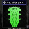 Gibson Decal Sticker Guitar Head Lime Green Vinyl 120x120