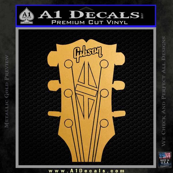 Gibson decal sticker guitar head metallic gold vinyl vinyl