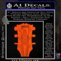 Gibson Decal Sticker Guitar Head Orange Vinyl Emblem 120x120