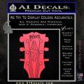 Gibson Decal Sticker Guitar Head Pink Vinyl Emblem 120x120