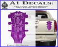 Gibson Decal Sticker Guitar Head Purple Vinyl 120x97