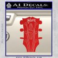 Gibson Decal Sticker Guitar Head Red Vinyl 120x120