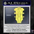 Gibson Decal Sticker Guitar Head Yelllow Vinyl 120x120