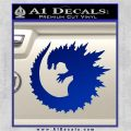 Godzilla CR Decal Sticker Blue Vinyl 120x120