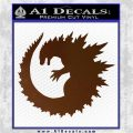 Godzilla CR Decal Sticker Brown Vinyl 120x120