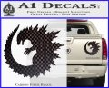 Godzilla CR Decal Sticker Carbon Fiber Black 120x97