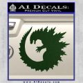 Godzilla CR Decal Sticker Dark Green Vinyl 120x120