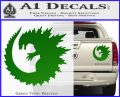 Godzilla CR Decal Sticker Green Vinyl 120x97