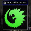 Godzilla CR Decal Sticker Lime Green Vinyl 120x120