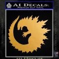 Godzilla CR Decal Sticker Metallic Gold Vinyl Vinyl 120x120