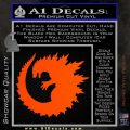 Godzilla CR Decal Sticker Orange Vinyl Emblem 120x120