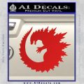 Godzilla CR Decal Sticker Red Vinyl 120x120