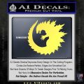 Godzilla CR Decal Sticker Yelllow Vinyl 120x120