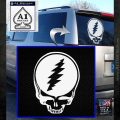 Grateful Dead Stealie Jerry Garcia Decal Sticker White Emblem 120x120