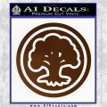 Green Mana Symbol Decal Sticker MTG Magic Brown Vinyl 120x120