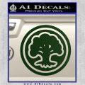 Green Mana Symbol Decal Sticker MTG Magic Dark Green Vinyl 120x120