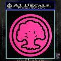 Green Mana Symbol Decal Sticker MTG Magic Hot Pink Vinyl 120x120