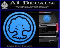 Green Mana Symbol Decal Sticker MTG Magic Light Blue Vinyl 120x97