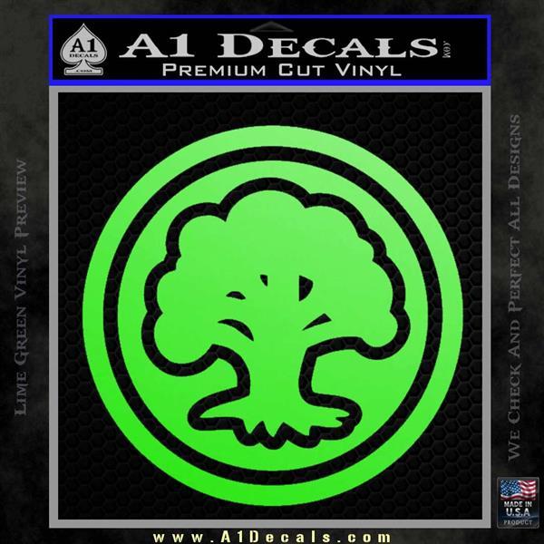 Green Mana Symbol Decal Sticker MTG Magic Lime Green Vinyl