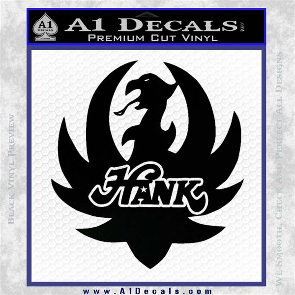Hank Williams Logo Vinyl Decal Sticker A1 Decals