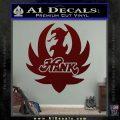 HANK WILLIAMS LOGO VINYL DECAL STICKER Dark Red Vinyl 120x120