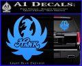HANK WILLIAMS LOGO VINYL DECAL STICKER Light Blue Vinyl 120x97