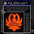 HANK WILLIAMS LOGO VINYL DECAL STICKER Orange Vinyl Emblem 120x120