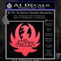 HANK WILLIAMS LOGO VINYL DECAL STICKER Pink Vinyl Emblem 120x120