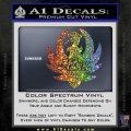 HANK WILLIAMS LOGO VINYL DECAL STICKER Sparkle Glitter Vinyl 120x120