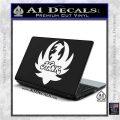 HANK WILLIAMS LOGO VINYL DECAL STICKER White Vinyl Laptop 120x120