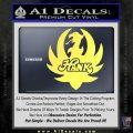 HANK WILLIAMS LOGO VINYL DECAL STICKER Yelllow Vinyl 120x120