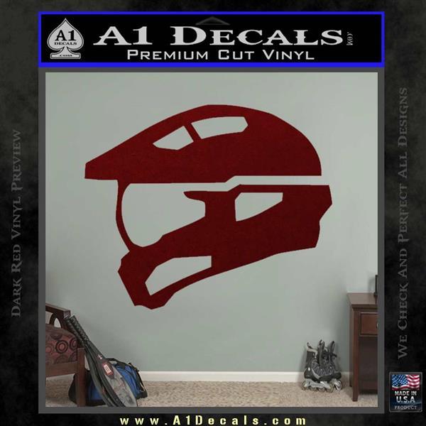 Halo Master Chief Spartan Helmet Decal Sticker 187 A1 Decals