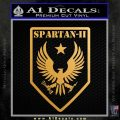 Halo Spartan Insignia Decal Sticker Metallic Gold Vinyl Vinyl 120x120