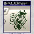 Harley Quinn DIA Decal Sticker Dark Green Vinyl 120x120