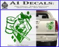 Harley Quinn DIA Decal Sticker Green Vinyl 120x97