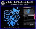 Harley Quinn DIA Decal Sticker Light Blue Vinyl 120x97