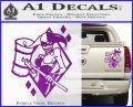 Harley Quinn DIA Decal Sticker Purple Vinyl 120x97