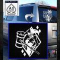 Harley Quinn DIA Decal Sticker White Emblem 120x120