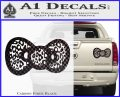 Hello Kitty Leopard Bow Decal Sticker Carbon Fiber Black 120x97